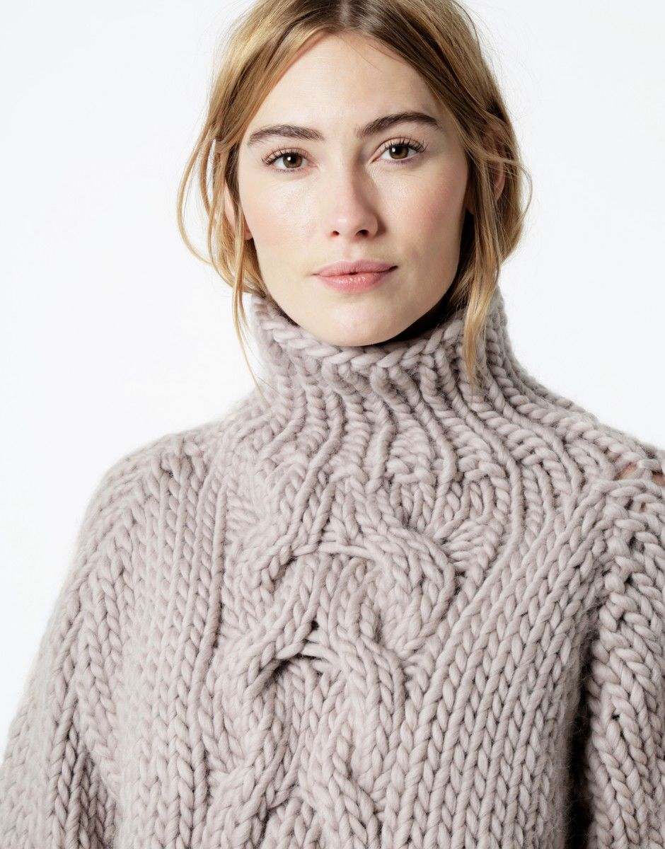 37132bec3c1 Cropped Cable Sweater | Wool and the Gang