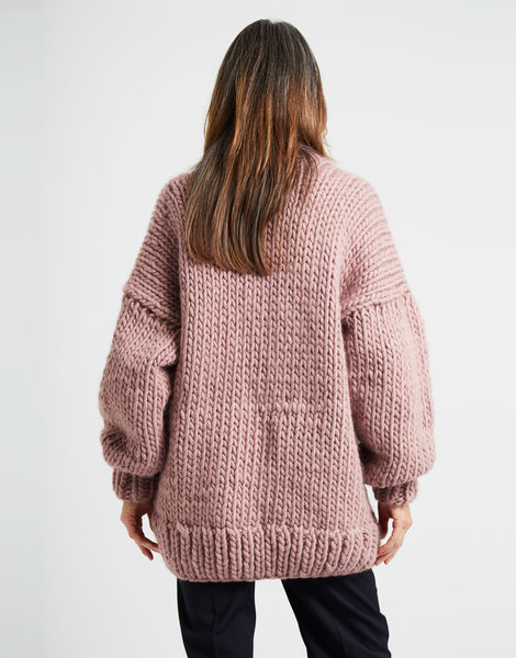 Hero cardigan mauve 1