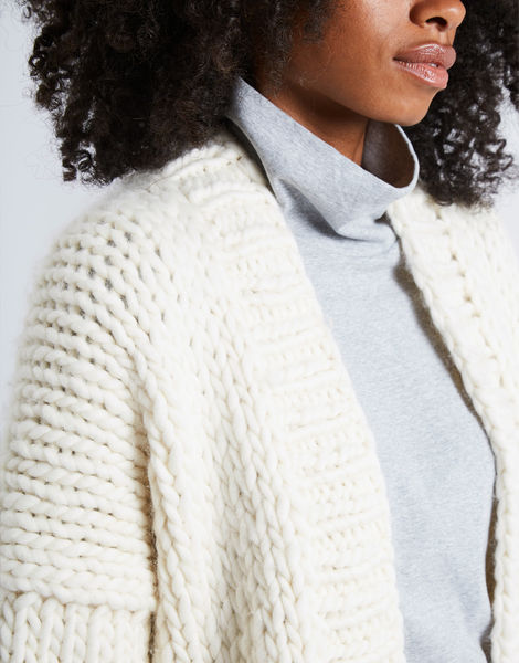 Hero cardigan ivorywhite 2