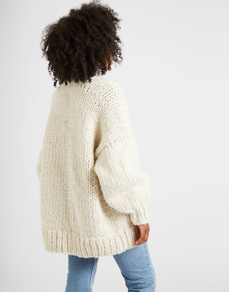 Hero cardigan ivorywhite 1