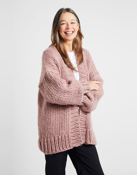 Hero cardigan mauve 4