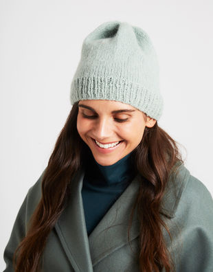 Billie beanie eucalyptusgreen 1