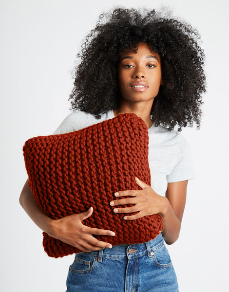 Can you feel it cushion csw red ochre