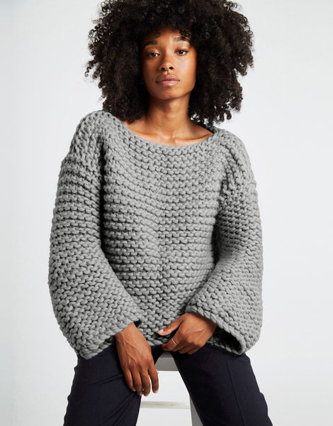 Dreamin jumper csw tweed grey