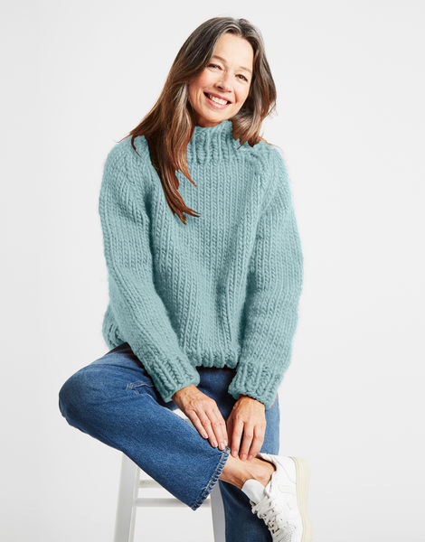Eden jumper csw duck egg blue