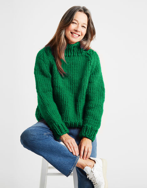 Eden jumper csw emerald green