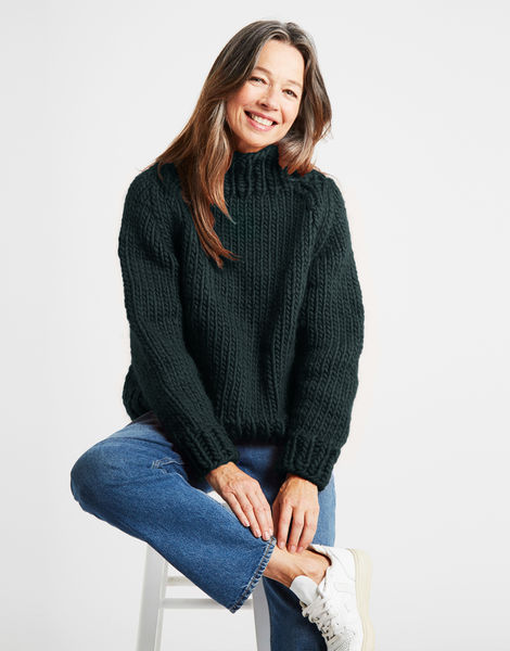 Eden jumper csw forest green