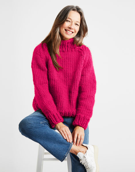 Eden jumper csw hot punk pink