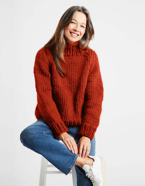 Eden jumper csw red ochre