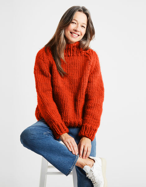 Eden jumper csw rusty orange