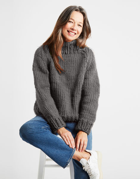 Eden jumper csw tweed grey