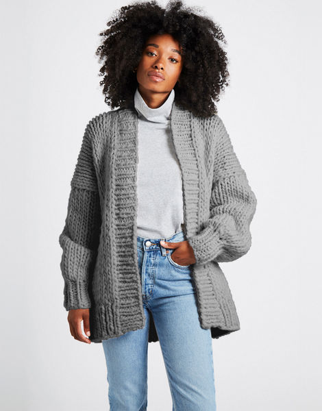 Hero cardigan csw tweed grey