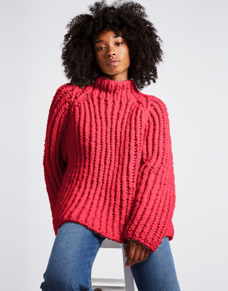 Lightning sweater csw candy red