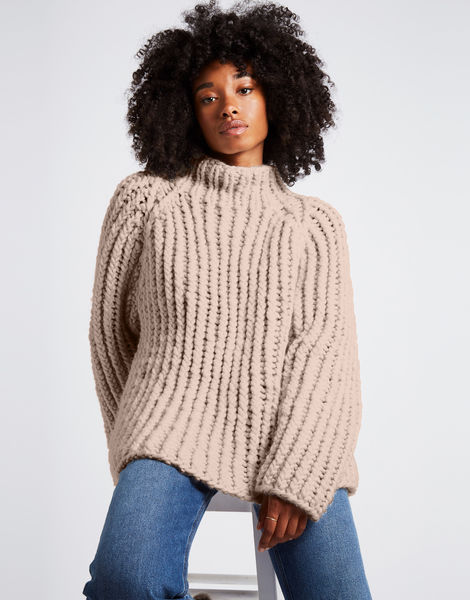Lightning sweater csw cameo rose