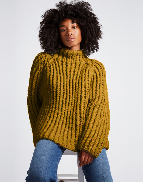 Lightning sweater csw bronzed olive