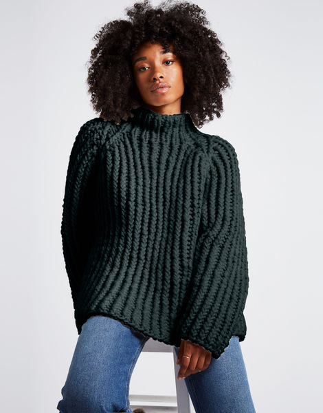 Lightning sweater csw forest green