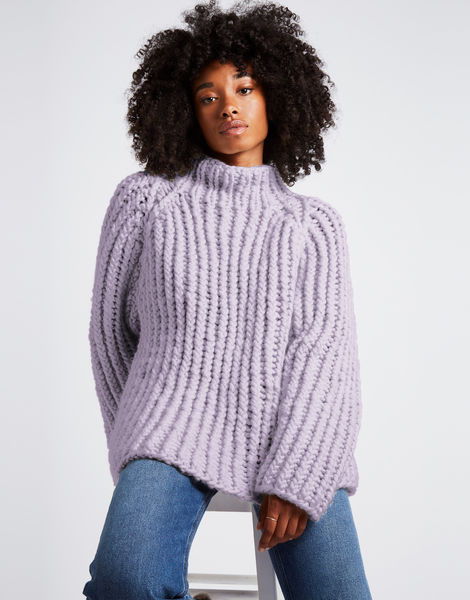Lightning sweater csw lilac powder