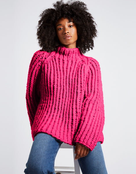 Lightning sweater csw hot punk pink