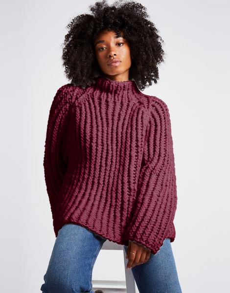 Lightning sweater csw margaux red