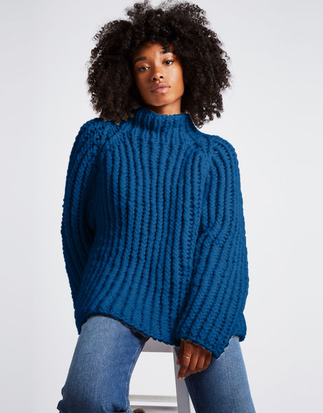 Lightning sweater csw sherpa blue