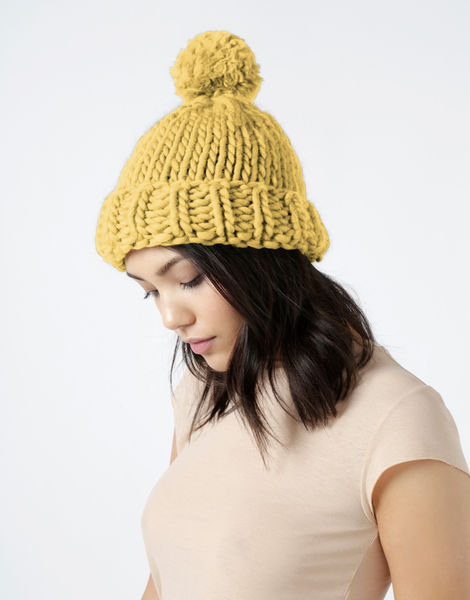 Lucy beanie csw chalk yellow