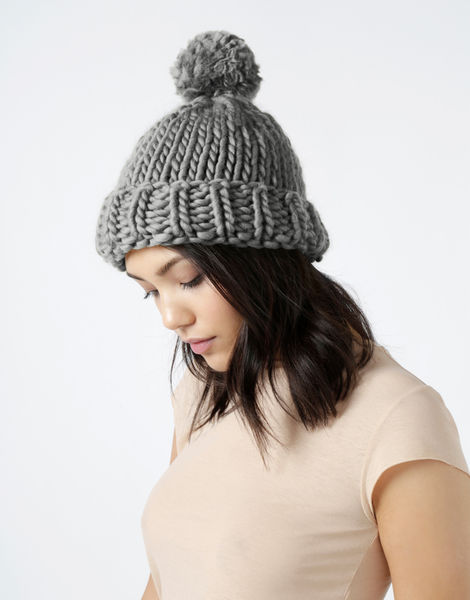 Lucy beanie csw tweed grey