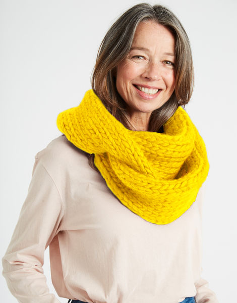 Lula hoop scarf csw big bird yellow