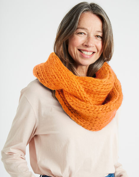 Lula hoop scarf csw fireball orange