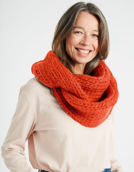 Lula hoop scarf csw rusty orange