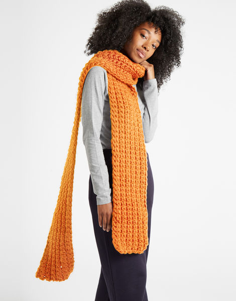 Sweet intuition scarf csw fireball orange