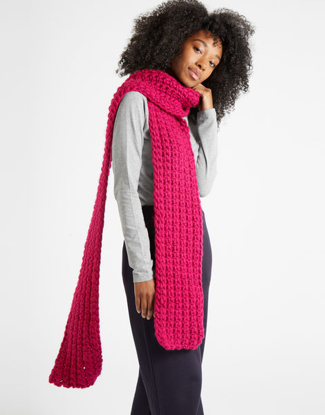 Sweet intuition scarf csw hot punk pink
