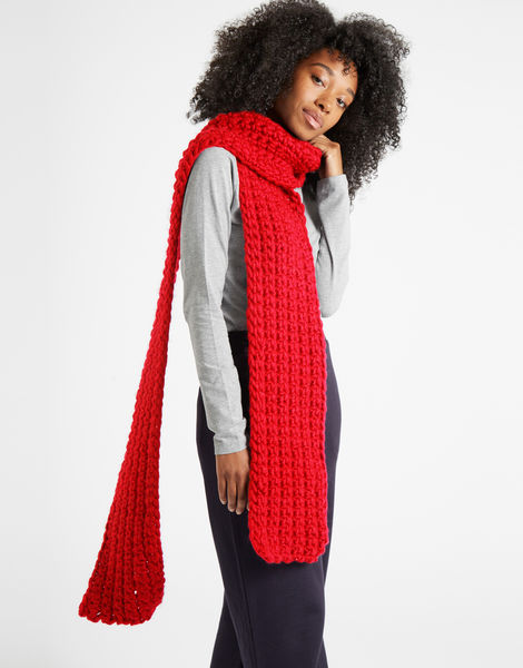 Sweet intuition scarf csw lipstick red