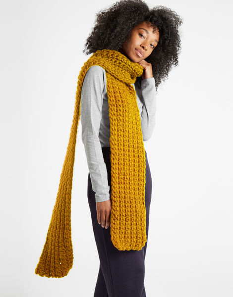 Sweet intuition scarf csw mustard sally