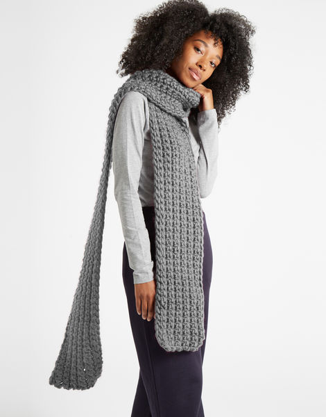 Sweet intuition scarf csw tweed grey