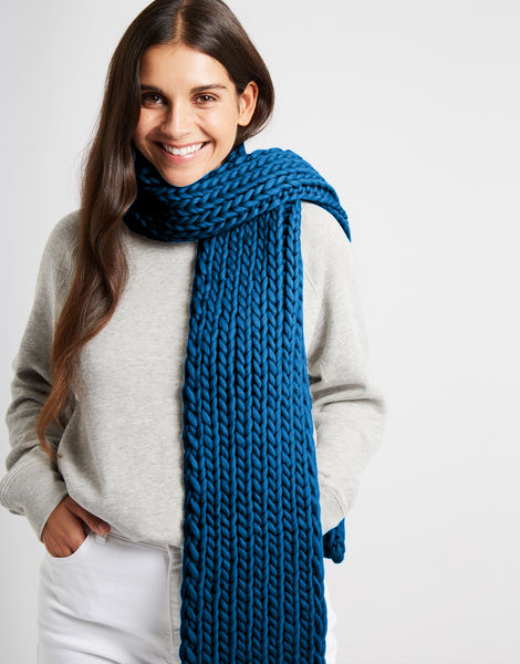 Whistler scarf csw sherpa blue