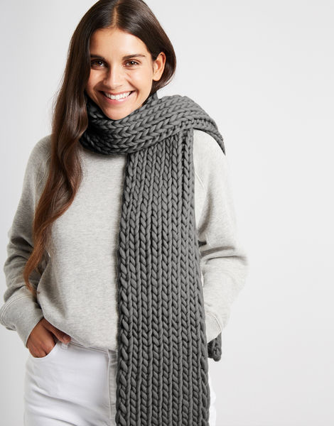 Whistler scarf csw tweed grey