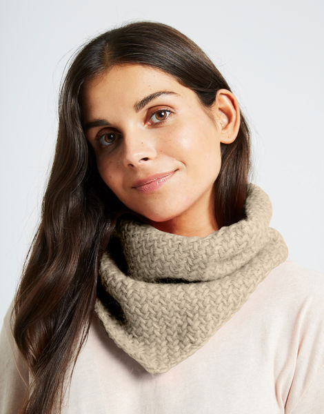 Chilly down cowl fgy seashell beige