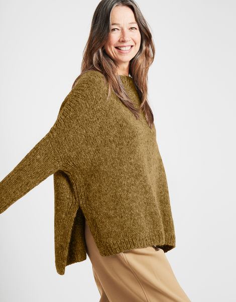 Happy land sweater fgy bronzed olive