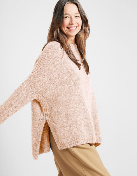 Happy land sweater fgy cameo rose