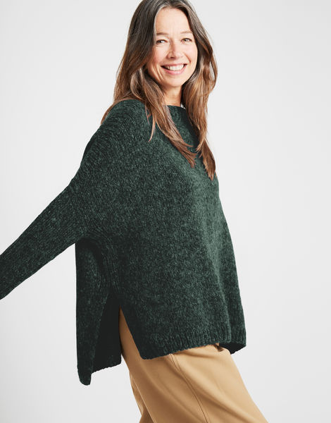 Happy land sweater fgy forest green