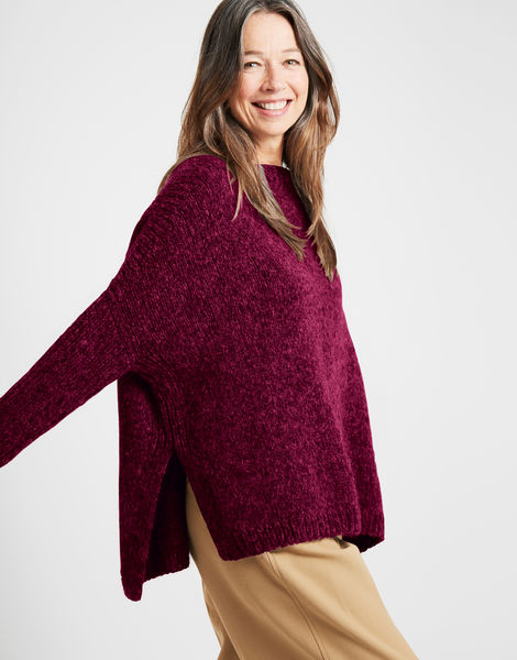 Happy land sweater fgy margaux red
