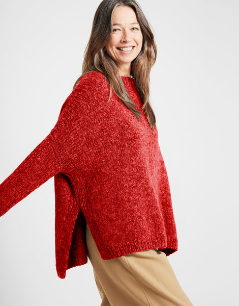 Happy land sweater fgy red ochre