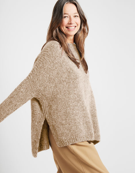 Happy land sweater fgy seashell beige