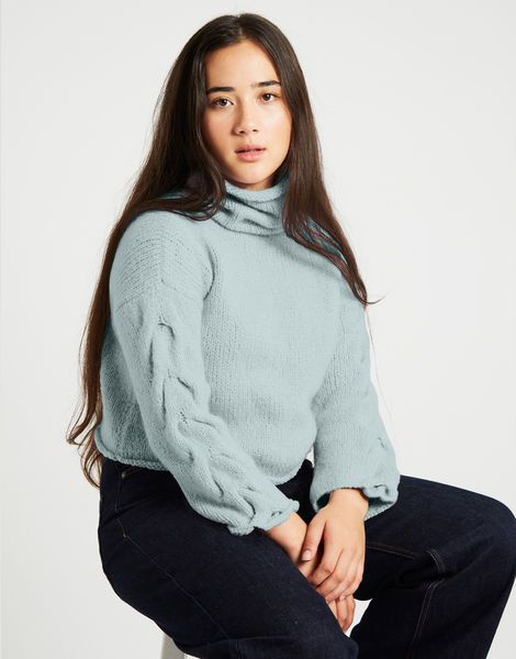 Lady soul sweaterfgy duck egg blue