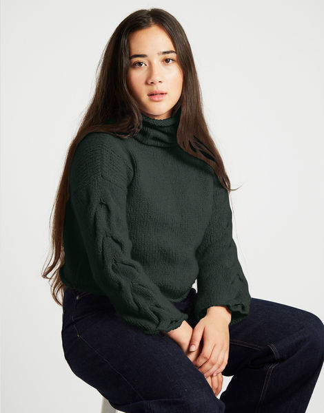 Lady soul sweaterfgy forest green