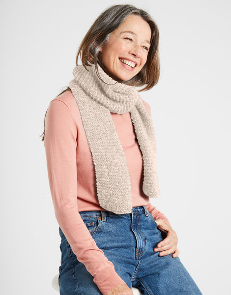 Metime scarf silverfoxgrey 24 fgy cameo rose