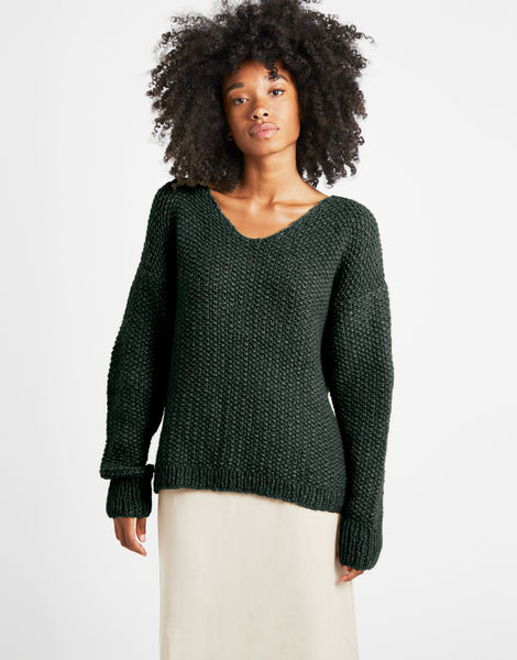 Star sweater sweater 1 fgy forest green