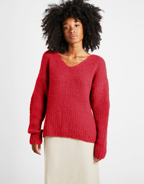 Star sweater sweater 1 fgy lipstick red