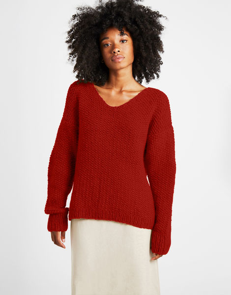 Star sweater sweater 1 fgy red ochre