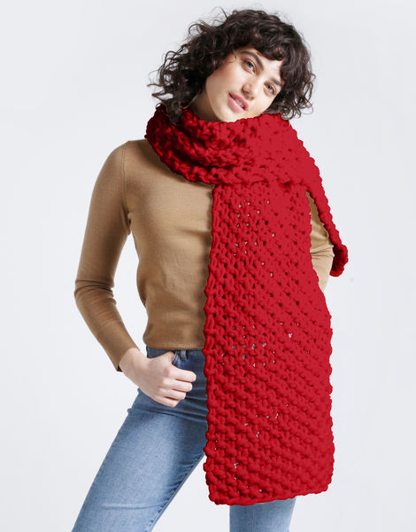 Rushmore scarf csw lipstick red